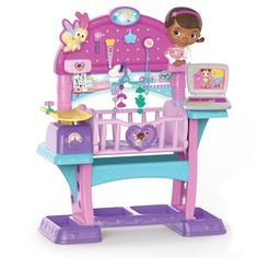 Disney Junior Doc McStuffins Baby All in One Kids Nursery Playset Pretend Toy Little Girl Toys, Toys For Girls, Kids Toys, 5 Kids, Doc Mcstuffins Toys, Doc Mcstuffins Costume, Baby Nursery Sets, Baby All In One, Images Disney