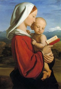 """The Virgin and Child"", 1845 / William Dyce (1806-1864) / Royal Collection, Windsor Castle, Windsor, UK"