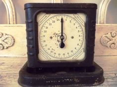 Vintage Kitchen Scale -  Rustic Rusty Black - Farm Kitchen Scale