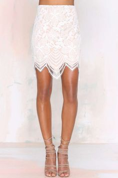For Love and Lemons Guava Lace Skirt - Skirts | For Love and Lemons