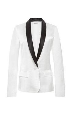 Silk and Linen Blend Tuxedo Jacket by Rodarte - Moda Operandi