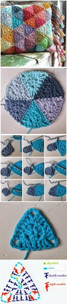 Todo crochet: Almohadón / cojín artesanal al crochet - paso a paso