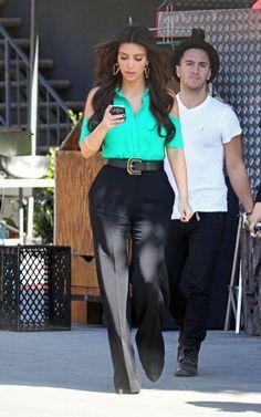 Kim Kardashian Fashion and Style - Kim Kardashian Dress, Clothes, Hairstyle - Page 22