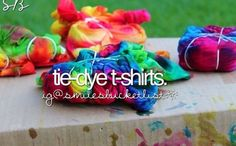 Dye your own t-shirt. I've done it before and mine was one of the best. Just make sure to dye it ALOT! Best Friend Bucket List, Things To Do When Bored, Justgirlythings, Summer Bucket Lists, Reasons To Smile, Tye Dye, Summer Fun, Summer 2014, Summer Things