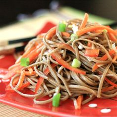 """Cold Szechuan Noodles and Shredded Vegetables 