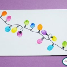 Thumbprint Christmas lights by ruby