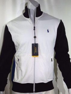 Polo Ralph Lauren interlock track jacket size small 100% cotton NEW on SALE #PoloRalphLauren #trackjacket