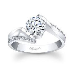 Barkev's Designer 14k White Gold Round-cut Diamond Engagement Ring (F-G, SI1-SI2) (size 6.75), Women's