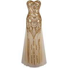Angel fashions Strapless Sequined A - linha Tulle Lace up longos vestidos de noite vestidos de noche de ouro e prata Loja Online | aliexpress móvel