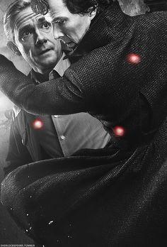"sherlockspeare: ""Just the two of us against the rest of the world "" Sherlock Season 4, Sherlock Series, Sherlock Holmes, Funny Sherlock, British Things, 221b Baker Street, Johnlock, Martin Freeman, Series 4"