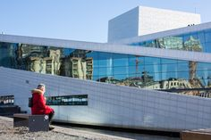 In front of the Opera House in Oslo - www.oslo360.no