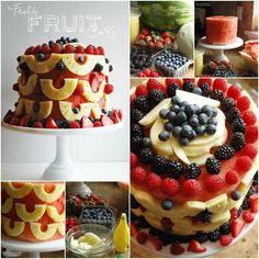 Yummy no bake fruit cake idea - Foood Style