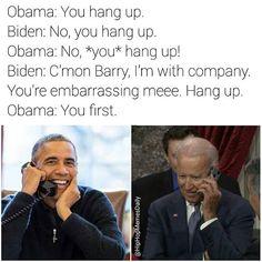 Barack Obama and Joe Biden meme Joe And Obama, Obama And Biden, Joe Biden, Dankest Memes, Funny Memes, Hilarious, Jokes, Obama Funny, Laughing Face