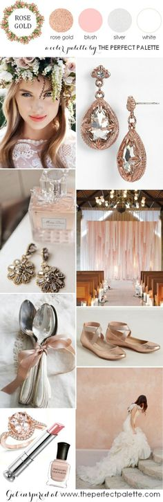 The Perfect Palette: now trending: rose gold and blush wedding Ideas...beautiful!