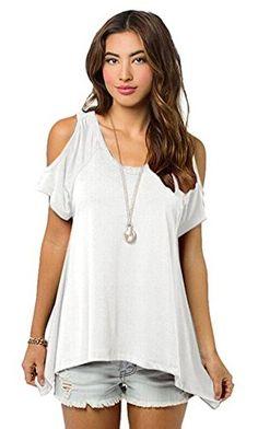 Relipop Women Hollow Out Casual Shirt Short Sleeve Off Shoulder Tunic Tops (Large, White) Relipop http://www.amazon.com/dp/B01CM6NATW/ref=cm_sw_r_pi_dp_HFe5wb0D6ZZR8