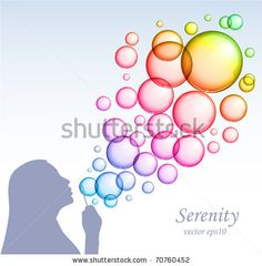 silhouette woman blowing bubbles images - Google Search