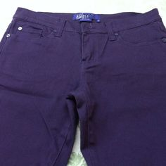Purple jeans Never worn new without tag. Miley Cyrus brand.💌to bundle😍 Jeans