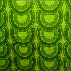Lime Green Chain Vintage Fabric