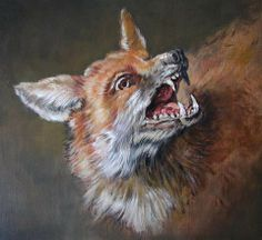 fox at the water | Tags : contemporaryart painting pastel oudry fox animalsinart