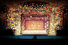A #theater scenic design model of #Matilda The Musical by Tony-nominated designer Rob Howell.