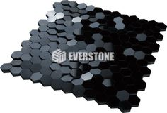 Downtown Natural Stone Marble Black 297x294 Sheet Polished Mosaic | EVERSTONE International
