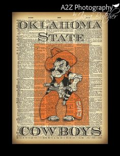 Oklahoma State Cowboys would be great printed on an ocolly page #pistolpete