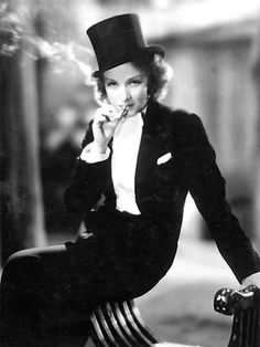 """""""Damn, but Dietrich had style... Cross-dressing with effortless panache, leaving a trail of guys and gals panting in her wake."""""""