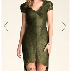 Bebe scallop lace dress black and gold Size 4 new bebe Dresses