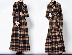 Women Christmas Gift Winter Windbreaker Plaid Jacket by MatchLife