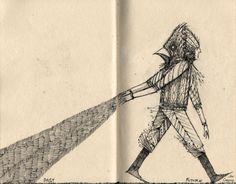 'Past/Future' - illustration by Oakland, California-based artist Jon Carling (via the artist's Tumblr)