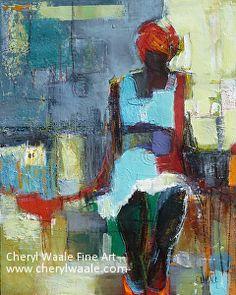 The Wait by Cheryl Waale Mixed Medium ~ 20 x 16
