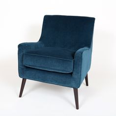 Give your home a refreshing update with this Kristina Ocean $318 Chair. This blue chair has unique style with tapered wood legs that will make your home more comfortable.