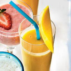 Peach-Mango Smoothie | CookingLight.com #myplate #fruit #dairy