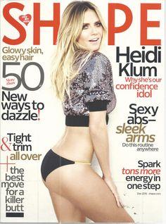 Heidi Klum Shape Magazine December 2016 Confidence Idol Sexy Abs Killer Butt  | eBay