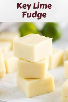 Key Lime Fudge is unlike any other fudge. It's sweet, tart, soft, smooth, and so creamy you need a spoon to eat it! Lime Recipes, Fudge Recipes, Candy Recipes, Chocolate Recipes, Sweet Recipes, Dessert Recipes, Chocolate Tarts, Chocolate Fudge, Oreo Fudge