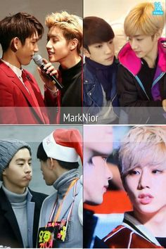 Mark's always looking at Jinyoung's lips like he wants to kiss him MARKJIN IS REAL