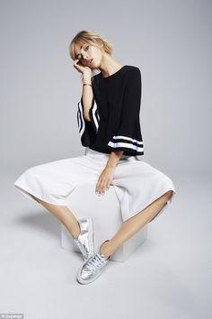 Suki Waterhouse models her new range of footwear for Superga www.myfashiontribu.com