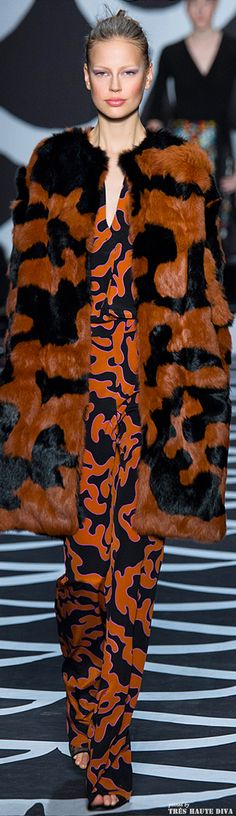 #NYFW Diane von Furstenberg Fall 2014 RTW  http://www.vogue.com/fashion-week
