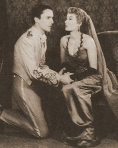 sibilavane:    alwaysiambic:    Jeremy Brett and Rosemary Harris asTroilus and Cressida(1956)    I hadn´t seen this picture before! *¬*    *Q*_______