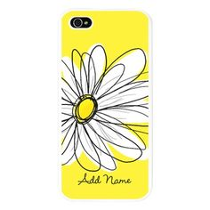 Whimsical Daisy - yellow iPhone 5 Case