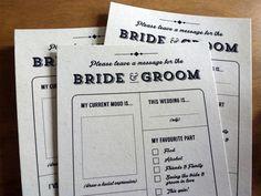 Printable Wedding Table Quiz & Survey Alternative by FaffyTea