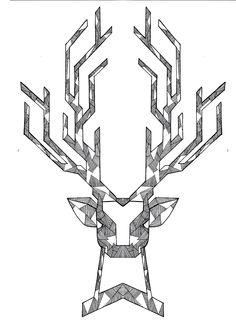 #deer #sketch #geometric #draw #hndmade