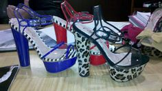 From The Shoe Girl A.K.A. CeCe Lamour - Clear Summer Sandals with Stripe and Leopard Accents