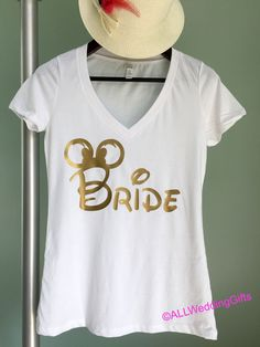 Disney Bride to Be Shirt, Gold, Bachelorette Party Shirts, Disney Bachelorette Party, Bridesmaid Shirts, Bachelorette Weekend, Bride Gift by ALLWeddingGifts on Etsy