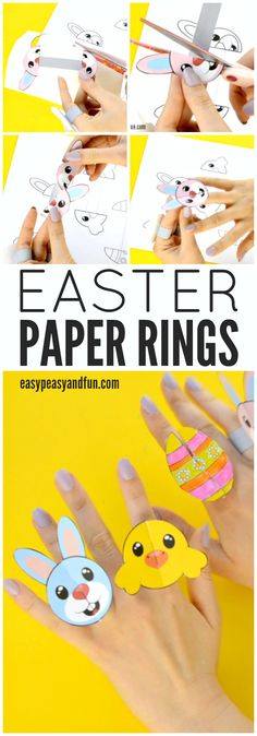 Printable Easter Paper Rings for Kids & Easter Craft Template
