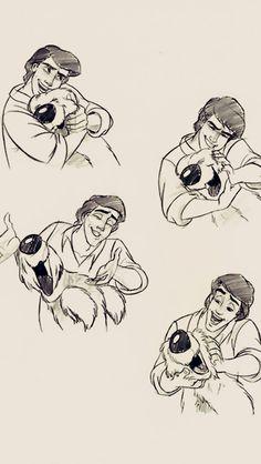 "waltyensidworld: """"Prince Eric from The Little Mermaid phone backgrounds (requested by ) "" "" Little Mermaid Drawings, Mermaid Sketch, Cute Disney Drawings, Disney Sketches, Cartoon Drawings, Cute Drawings, Disney Dream, Disney Love, Disney Magic"