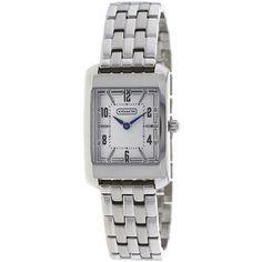 Classic Coach Women Watch for everyday work --> Stainless Steel Silver Lexington Bracelet /Box 14501504 #Coach #LuxuryDressStyles