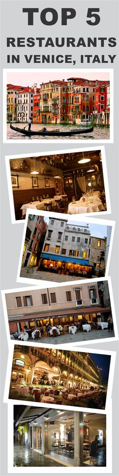 Top 5 Restaurants in Venice, Italy #Venice #Italy #Top5 #Restaurant