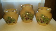Yesteryear Hand Turned Pottery Canister Set by GandTVintage