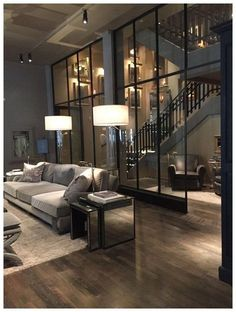 Inspirations for decorating luxury loft apartments: modern and contemporary interior design projects Dream House Interior, Dream Home Design, Modern House Design, Contemporary Interior Design, Modern Interior Design, Contemporary Furniture, Contemporary Building, Contemporary Bedroom, Luxury Interior